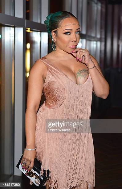 Tameka 'Tiny' Harris attends 'Tiny' Tameka Harris Celebrity Birthday Affair at Scales 925 Restaurant on July 14 2015 in Atlanta Georgia