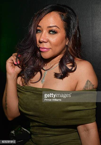 Tameka 'Tiny' Harris attends Toya Wright's Official Book Release Party at CRU on November 22 2016 in Atlanta Georgia