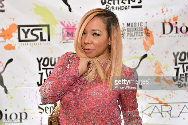 Tameka 'Tiny' Harris attends young thugs 25th Birthday and PUMA Campaign on August 15 2016 in Atlanta Georgia