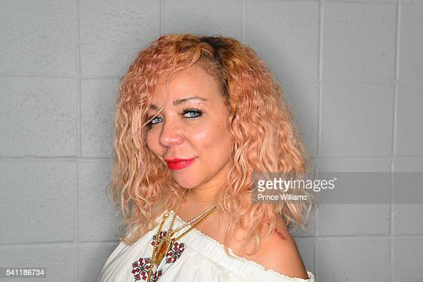 Tameka 'Tiny' Harris Poses for a Portrait At Birthday Bash at Philips Arena on June 18 2016 in Atlanta Georgia