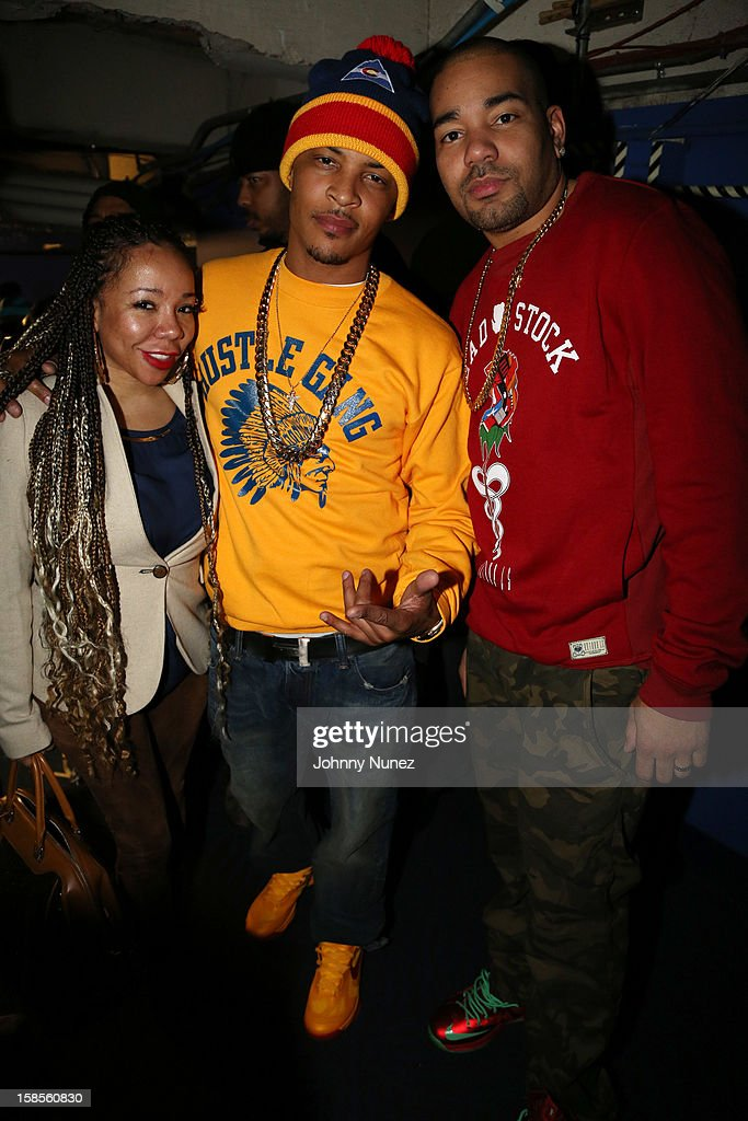 Tameka 'Tiny' Harris, T.I., and DJ Envy attend 'T.I. In Concert' at Best Buy Theater on December 18, 2012 in New York, United States.