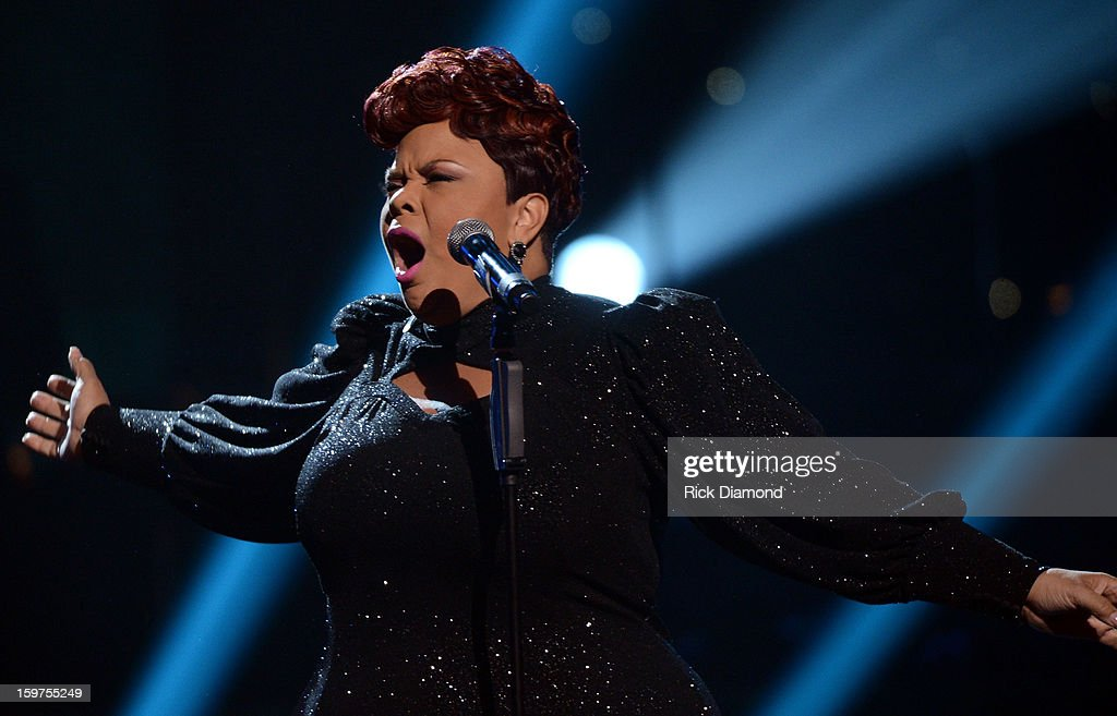 Tamela Mann performs on the 28th Annual Stellar Awards Show at Grand Ole Opry House on January 19, 2013 in Nashville, Tennessee.