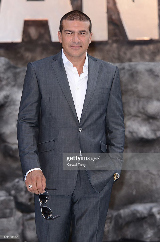 Tamer Hassan attends the UK Premiere of 'The Lone Ranger' at Odeon Leicester Square on July 21, 2013 in London, England.
