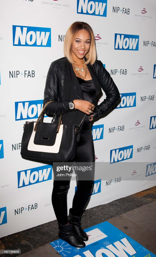 Tamera Foster attends the Now Magazine Christmas party at Soho Sanctum Hotel on November 26, 2013 in London, England.