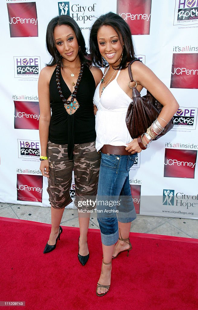 Tamera Mowry and Tia Mowry during Young Hollywood Says 'Hope Rocks' - Concert to Benefit City of Hope - Arrivals at Key Club in Los Angeles, California, United States.