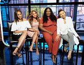 Tamera MowryHousley Adrienne Bailon Loni Love and Jeannie Mai visit 'Extra' at Universal Studios Hollywood on June 21 2016 in Universal City...