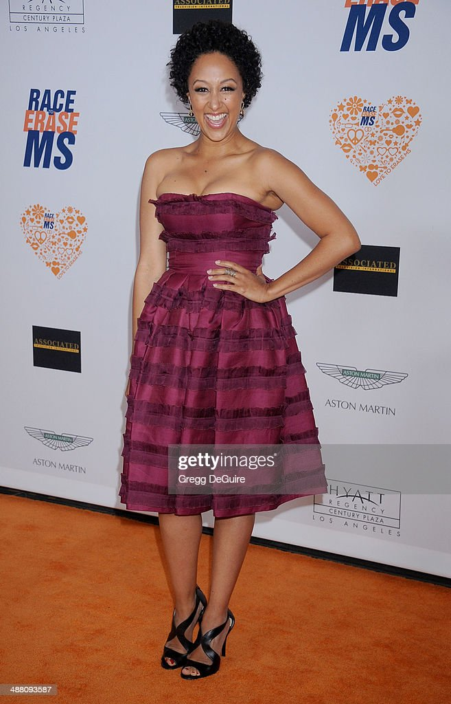 <a gi-track='captionPersonalityLinkClicked' href=/galleries/search?phrase=Tamera+Mowry&family=editorial&specificpeople=798679 ng-click='$event.stopPropagation()'>Tamera Mowry</a>-Housley arrives at the 21st Annual Race To Erase MS Gala at the Hyatt Regency Century Plaza on May 2, 2014 in Century City, California.