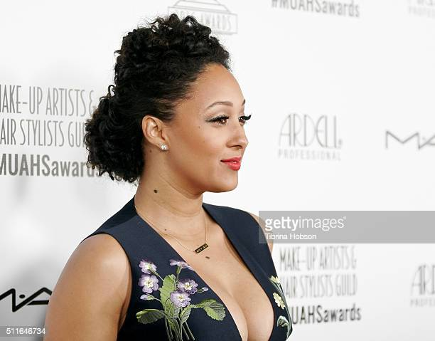 Tamera MowryHousley attends the MakeUp Artists and Hair Stylists Guild Awards at Paramount Studios on February 20 2016 in Hollywood California