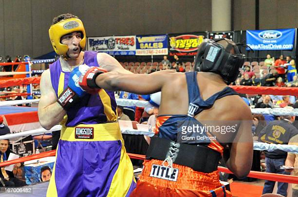 Tamerlan Tsarnaev fights Lamar Fenner during the 201pound division boxing match during the 2009 Golden Gloves National Tournament of Champions May 4...