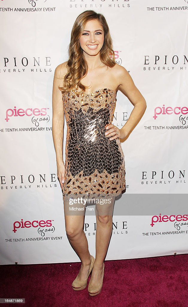 Tami Farrell arrives at 'Pieces(Of Ass)' opening night Los Angeles performance held at The Fonda Theatre on March 28, 2013 in Los Angeles, California.