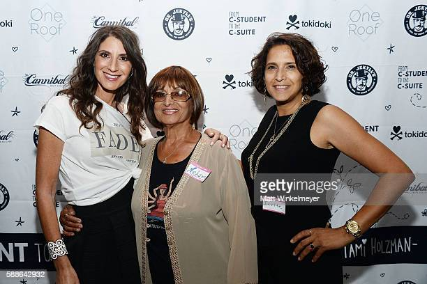 Tami Holzman Nechama Bentovim and Ivette Rodriguez attend the book launch for 'From CStudent to the CSuite Leveraging Emotional Intelligence' at...