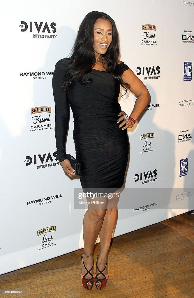 Tami Roman attends the Official VH1 Divas after party to benefit VH1 Save The Music Foundation at The Shrine Expo Hall on December 16, 2012 in Los Angeles, California.