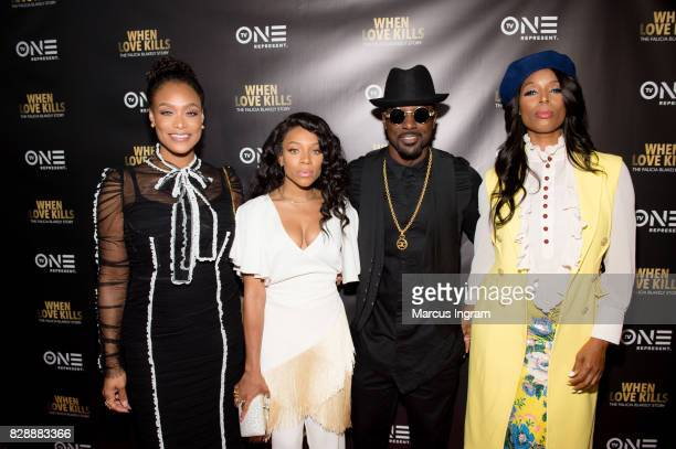 Tami Roman Niatia 'Lil Mama' Kirkland Lance Gross and Tasha Smith attend the 'When Love Kills The Falicia Blakely Story' movie screening at Regal...
