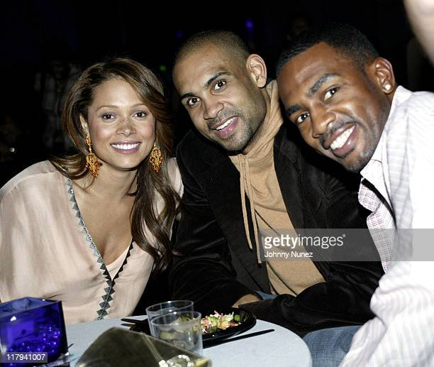 Tamia Grant Hill and Bill Bellamy during NBPA AllStar Ice Gala February 19 2005 at Denver Convention Center in Denver Colorado United States