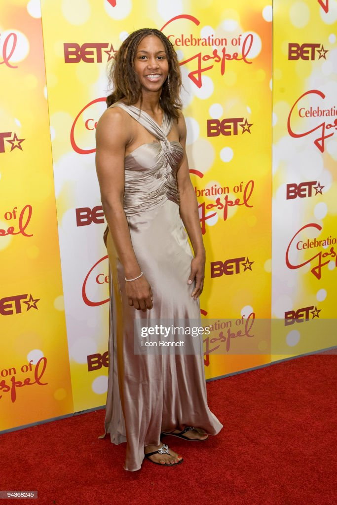 <a gi-track='captionPersonalityLinkClicked' href=/galleries/search?phrase=Tamika+Catchings&family=editorial&specificpeople=202220 ng-click='$event.stopPropagation()'>Tamika Catchings</a> attends BET's 10th Anniversary Celebration Of Gospel at The Orpheum Theatre on December 12, 2009 in Los Angeles, California.