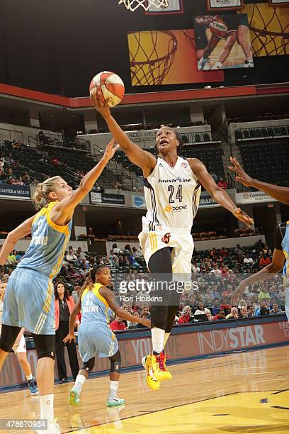 Tamika Catchings of the Indiana Fever shoots against the Chicago Sky on June 26 2015 at Bankers Life Fieldhouse in Indianapolis Indiana NOTE TO USER...