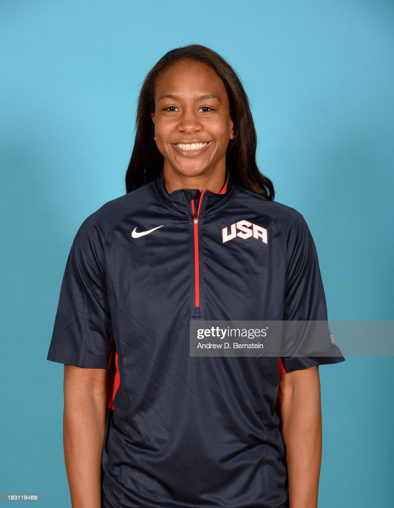 Tamika Catchings poses for a head shot during the USA Womens National Team Mini-Camp on October 4, 2013 at the Cox Pavilion in Las Vegas, Nevada.