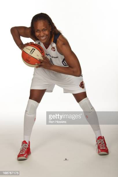 Tamika Catchings poses for a photo during the Indiana Fever media day on May 13 2013 at Bankers Life Fieldhouse in Indianapolis Indiana NOTE TO USER...