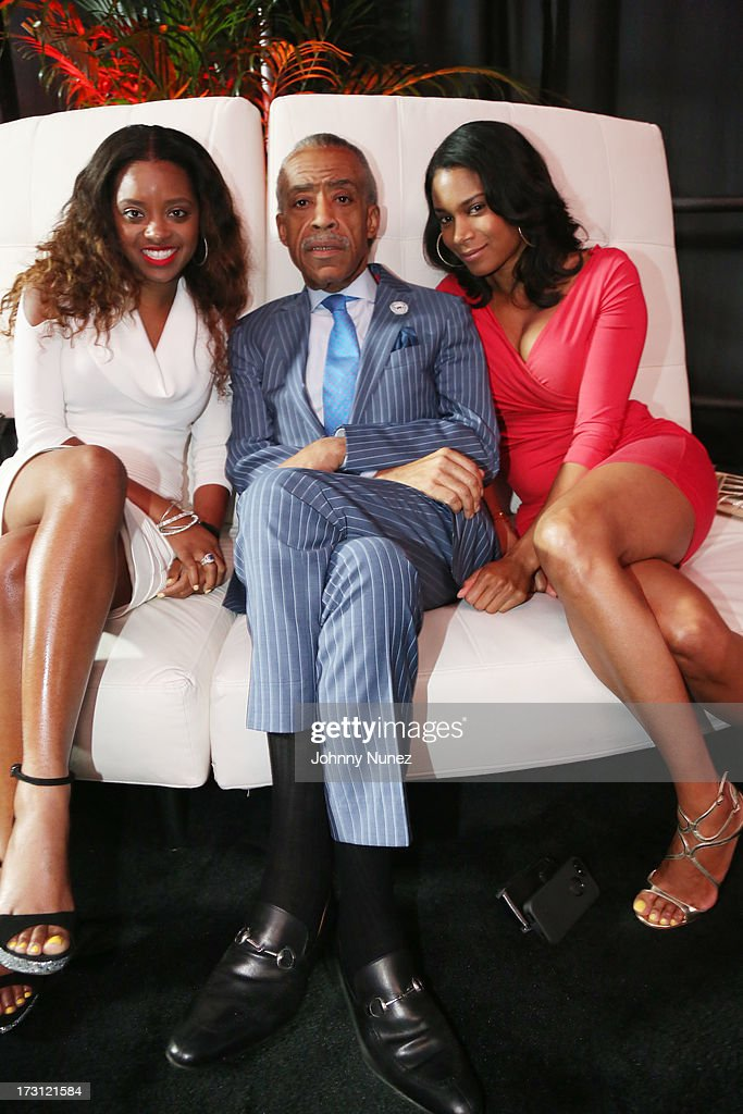 Tamika Mallory, <a gi-track='captionPersonalityLinkClicked' href=/galleries/search?phrase=Al+Sharpton&family=editorial&specificpeople=202250 ng-click='$event.stopPropagation()'>Al Sharpton</a> and Aisha McShaw attend the 2013 Essence Festival at the Mercedes-Benz Superdome on July 7, 2013 in New Orleans, Louisiana.