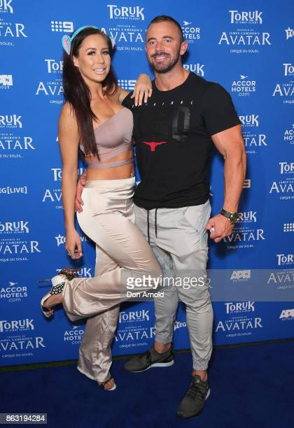 Tamika Rawson and Dave Coleman arrive ahead of TORUK The First Flight by Cirque du Soleil at Qudos Bank Arena on October 19 2017 in Sydney Australia