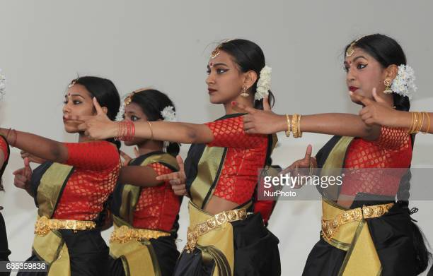 Tamil Bharatnatyam dancers mimic the execution squads of the Sri Lankan Army while performing an emotional dance honoring the dead and showcasing the...