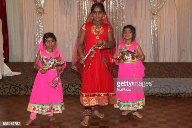 Tamil girls perform a traditional dance during the V Rambaikulam Girls Maha Vidyalayam Old Students Association Christmas gala celebration in Toronto...