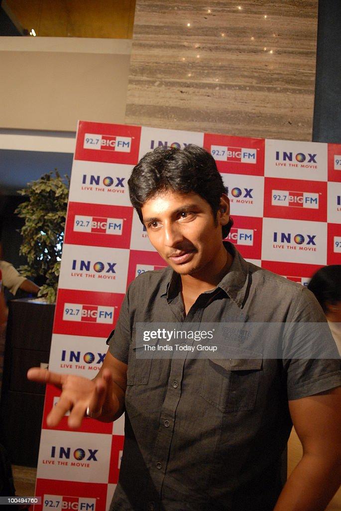 Tamil star Jeeva at a special screening of the film Kites at INOX in Chennai on Monday, May 24, 2010.