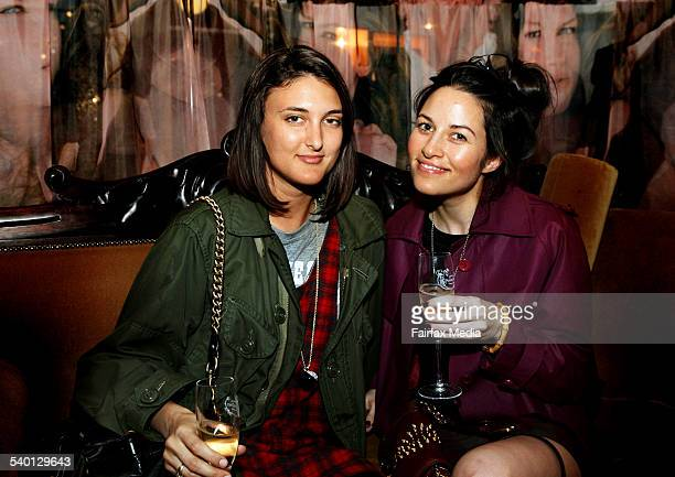 Tamila Purvis left and Kym Ellery at the Stella McCartney perfume launch at The Corner Shop Strand Arcade Sydney 16 October 2006 SHD Picture by JENNY...