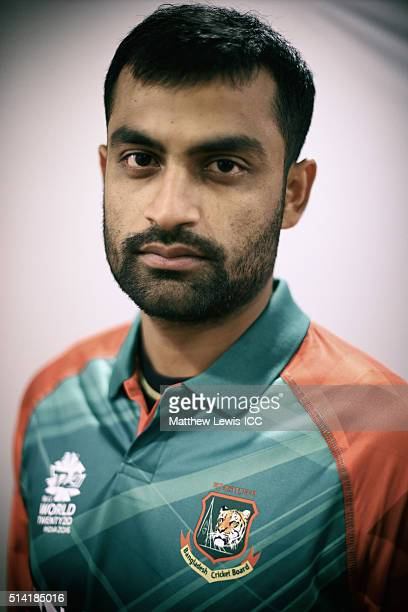 Tamim Iqbal of Bangladesh pictured during a Headshot session ahead of the ICC Twenty20 World Cup on March 7 2016 in Dharamsala India