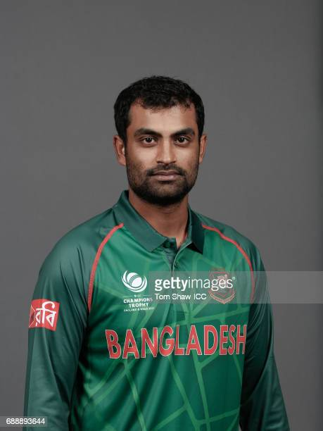 Tamim Iqbal of Bangladesh poses for a picture during the Bangladesh Portrait Session for the ICC Champions Trophy at Grand Hyatt on May 26 2017 in...