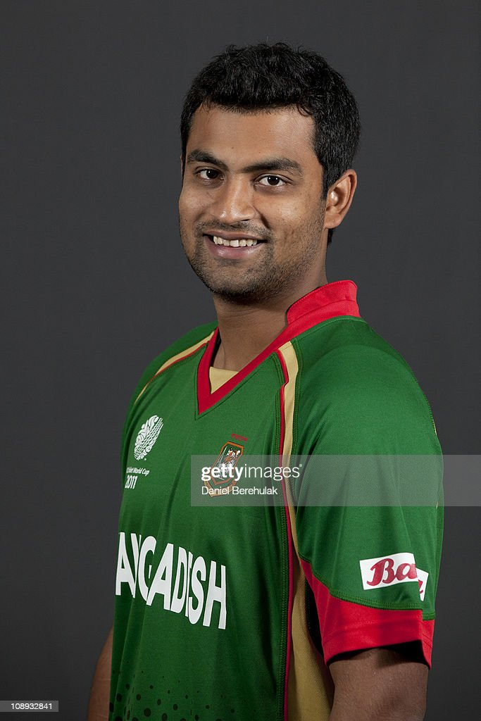 <a gi-track='captionPersonalityLinkClicked' href=/galleries/search?phrase=Tamim+Iqbal&family=editorial&specificpeople=4181226 ng-click='$event.stopPropagation()'>Tamim Iqbal</a> of Bangladesh poses for a portrait during the Bangladesh team portrait session on February 9, 2011 in Dhaka, Bangladesh.