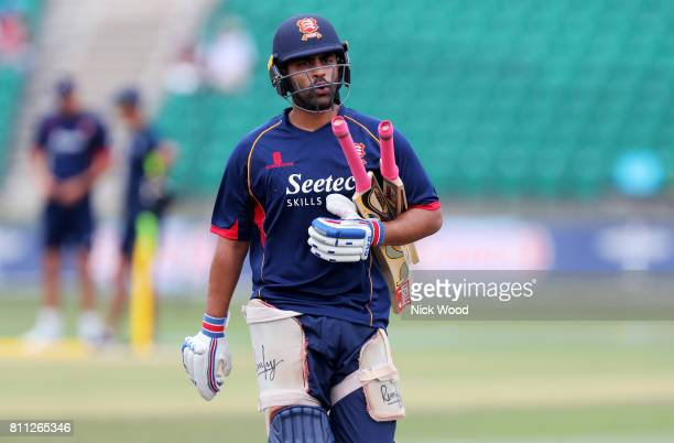 Tamim Iqbal of Essex leaves the pitch after netting during the Kent Spitfires v Essex Eagles NatWest T20 Blast cricket match at the County Ground on...