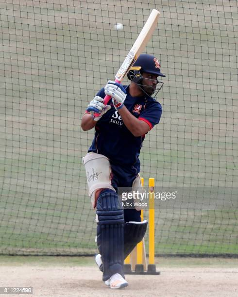 Tamim Iqbal of Essex nets on his first outing with the club during the Kent Spitfires v Essex Eagles NatWest T20 Blast cricket match at the County...