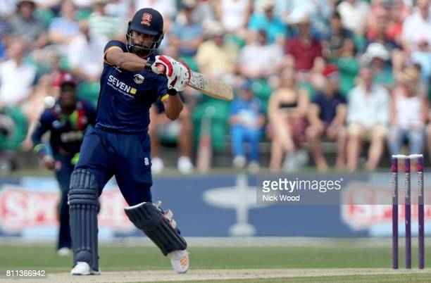 Tamin Iqbal of Essex played some aggresive shots during his debut during the Kent Spitfires v Essex Eagles NatWest T20 Blast cricket match at the...