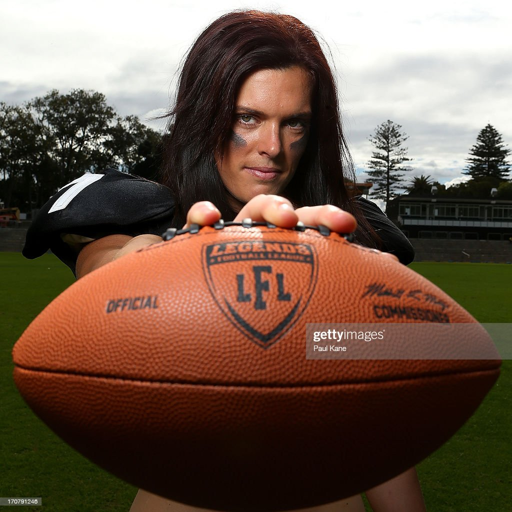 Tammie West of the Western Australian Angels poses during a Legends Football League (LFL) media day at nib Stadium on June 18, 2013 in Perth, Australia.