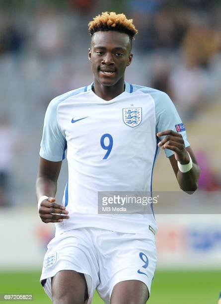 Tammy Abraham during the UEFA European Under21 match between Sweden and England at Kolporter Arena on June 16 2017 in Kielce Poland