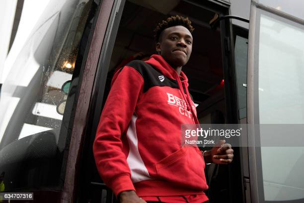 Tammy Abraham of Bristol City arriving for the Sky Bet Championship match between Derby County and Bristol City at the iPro Stadium on February 11...