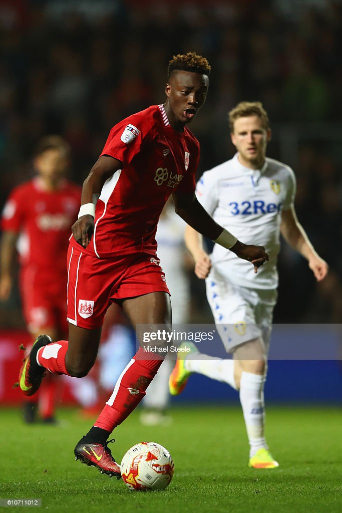 Tammy Abraham of Bristol City during the Sky Bet Championship match between Bristol City and Leeds United at Ashton Gate on September 27, 2016 in Bristol, England.