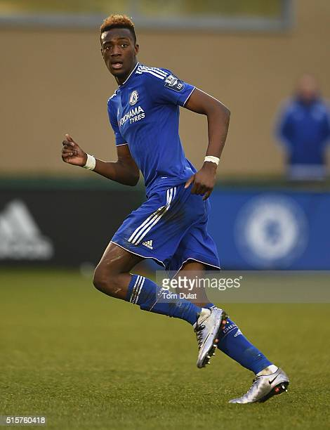 Tammy Abraham of Chelsea in action during the UEFA Youth League quarter final match between Chelsea and Ajax at Chelsea Training Ground on March 15...