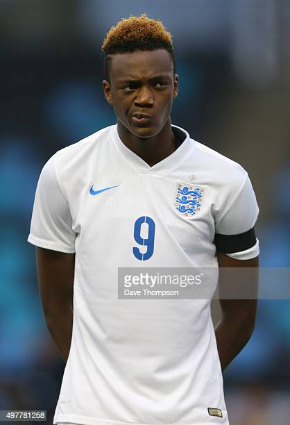 Tammy Abraham of England during the U19 International friendly match between England and Japan at Manchester City Academy Stadium on November 15 2015...