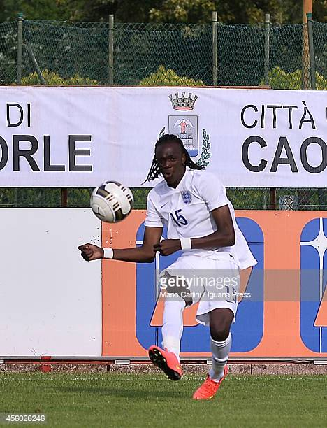 Tammy Abraham of England U18 in action during the international friendly match between Italy U18 and England U18 on September 24 2014 in Caorle Italy
