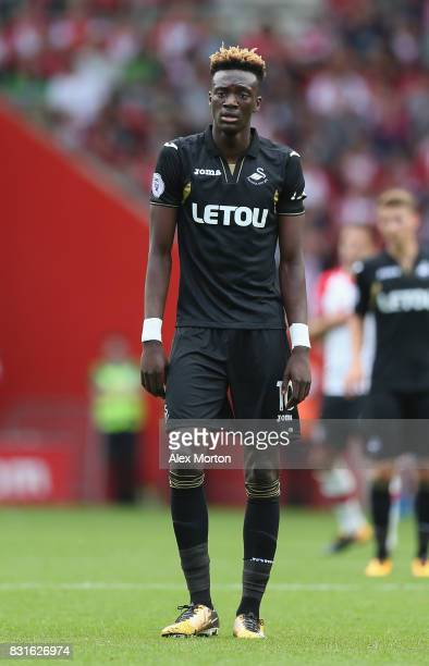 Tammy Abraham of Swansea during the Premier League match between Southampton and Swansea City at St Mary's Stadium on August 12 2017 in Southampton...