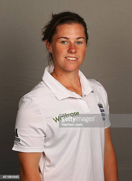 Tammy Beaumont of England poses for a portrait at the ECB National Performance Centre on July 10 2014 in Loughborough England