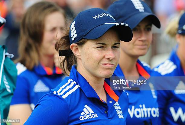 Tammy Beaumont of England Women looks on during the 3rd Royal Royal London ODI between England Women and Pakistan Women at The Cooper Associates...