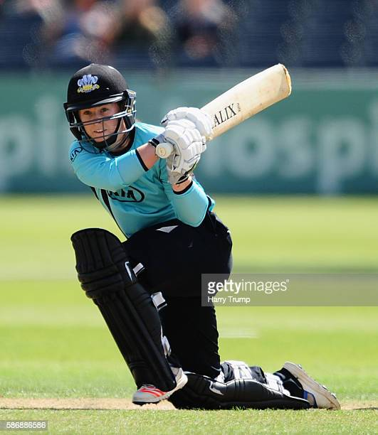 Tammy Beaumont of Surrey Stars bats during the Womens Kia Super League match between Western Storm and Surrey Stars at the Brightside Ground on...