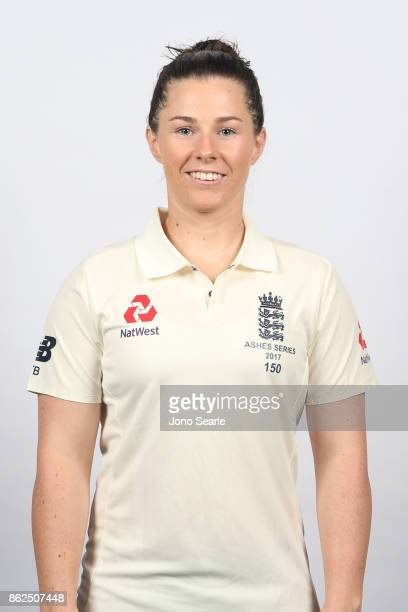 Tammy Beaumont poses during the England women's Test headshots session on October 13 2017 in Brisbane Australia