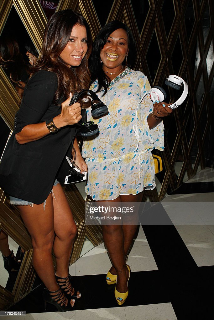Tammy Brook (L) and Janice Turner, aka Mother Kingston attend the Sean Kingston 'Back 2 Life' Listening Session Presented By Flips Audio at Bootsy Bellows on August 27, 2013 in West Hollywood, California.