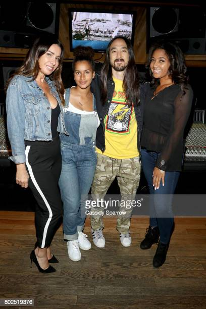 Tammy Brook Darly Murray Steve Aoki and Dallis Sermon attend Kolony Listening Session at Premier Studios on June 27 2017 in New York City