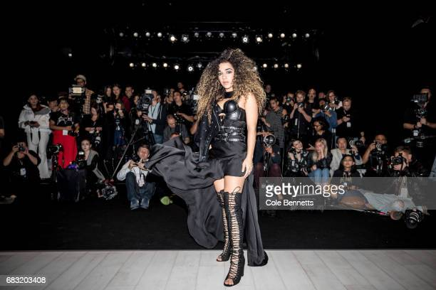 Tammy Christina attends the Justin Cassin show at MercedesBenz Fashion Week Resort 18 Collections at Carriageworks on May 15 2017 in Sydney Australia
