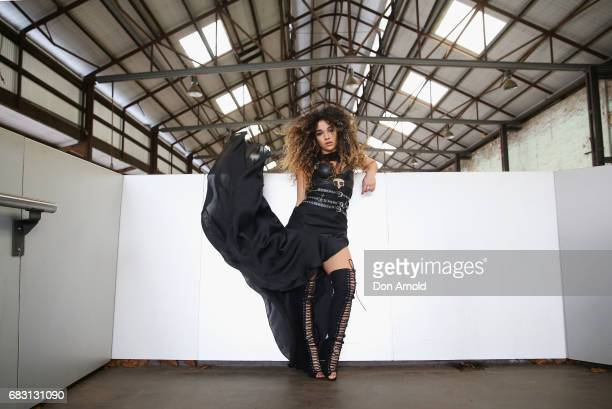 Tammy Christina wearing Sass and Bide bodice and skirt and Bellini shoes during MercedesBenz Fashion Week Resort 18 Collections at Carriageworks on...